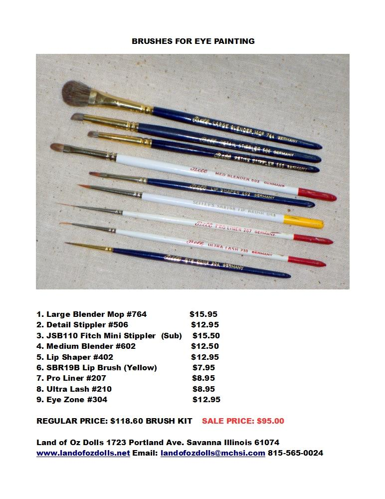 Modern Eye Painting Brush Kit
